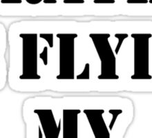 Right Now, I'd Rather Be Flying My Biplane - Black Text Sticker