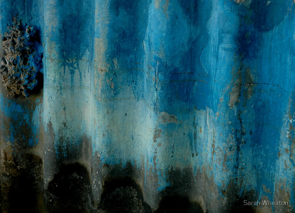corrugations in blue by Sarah Wheaton