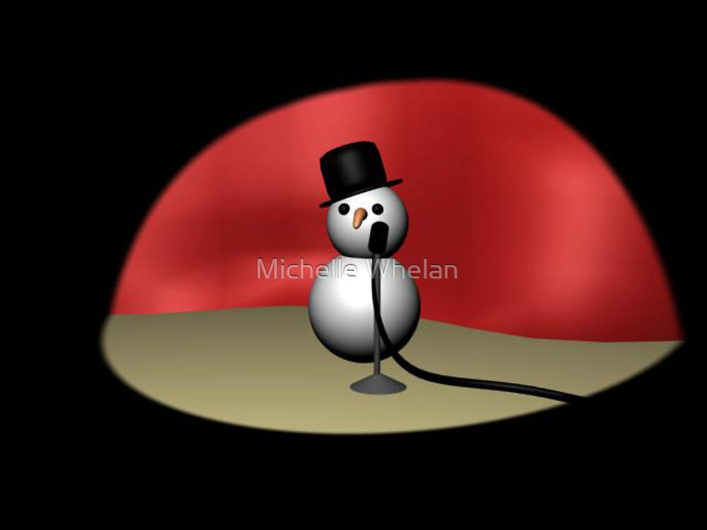 comic snowman by Michelle Whelan