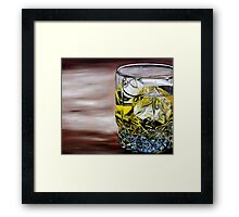 Scotch on the Rocks Framed Print