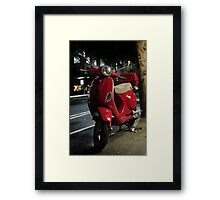 Red Scooter Framed Print