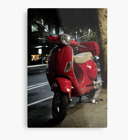 Red Scooter Metal Print