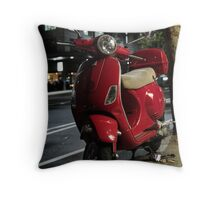 Red Scooter Throw Pillow