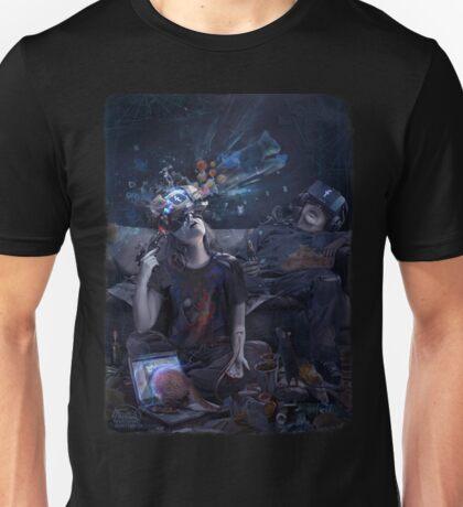 VR cyber suicide print  Unisex T-Shirt