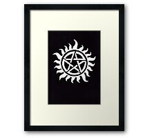 Supernatural Demon Possession Protection [WHITE] Framed Print
