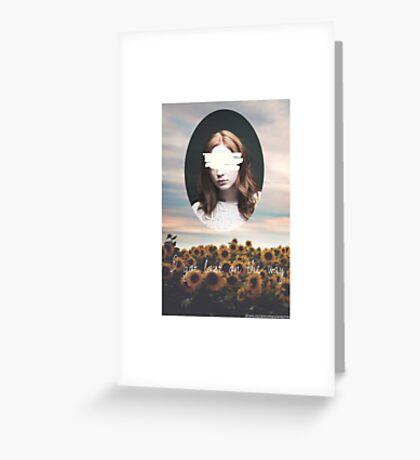 Karen Gillan flowers Greeting Card