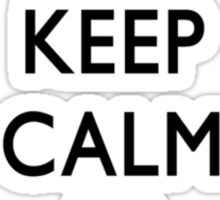 KEEP CALM AND CHECK IT OUT! WITH DR. STEVE BRULE Design by SmashBam Sticker