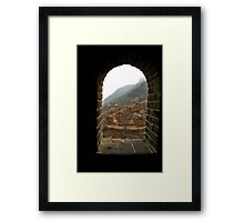 Window on the Great Wall Framed Print