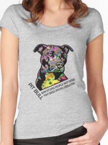 Pitbull BSL Black Women's Fitted Scoop T-Shirt