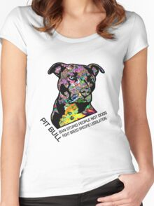 Pitbull BSL Black Women's Fitted Scoop T-Shirt