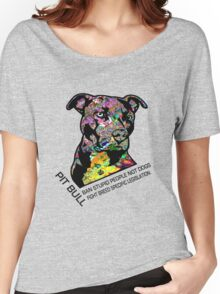 Pitbull BSL Black Women's Relaxed Fit T-Shirt