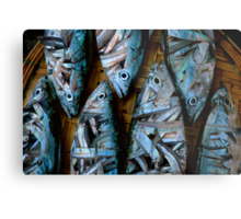 FISH EAT FISH Metal Print