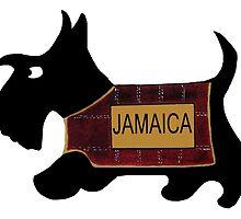 Commonwealth Games Scottie Dog 'Jamaica' by archyscottie