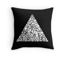 storming the white triangle Throw Pillow