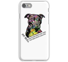 Pitbull BSL Black iPhone Case/Skin