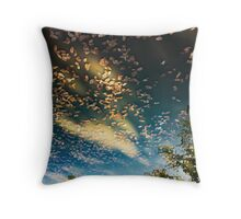 leaf firmament Throw Pillow