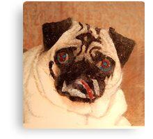 Pug with Glitter Canvas Print