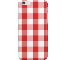GINGHAM-RED iPhone Case/Skin