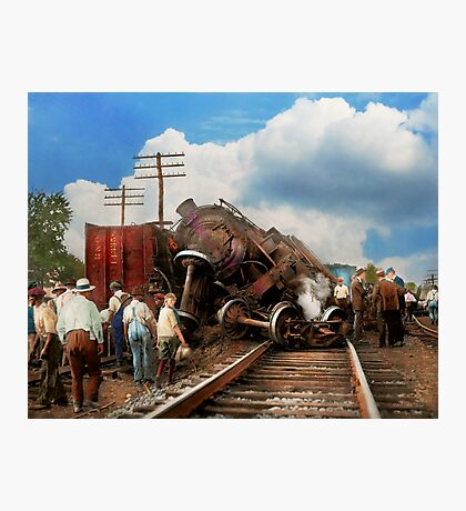 Train - Accident - Butting heads 1922 Photographic Print