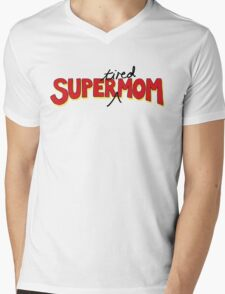 Super(tired)Mom Mens V-Neck T-Shirt