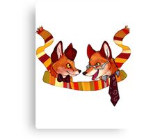 Fandom Foxes - Who? Canvas Print