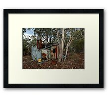 miners hut on Airley Turret Framed Print