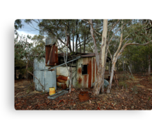 miners hut on Airley Turret Canvas Print