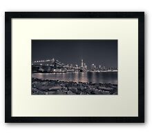 New York Monochrome Framed Print