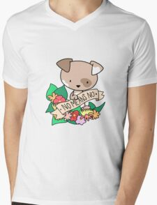 Puppy, NO MEANS NO! Mens V-Neck T-Shirt