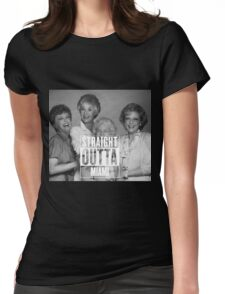 Straight Outta Miami Womens Fitted T-Shirt