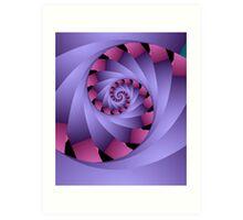 Swirl in pink and purple Art Print