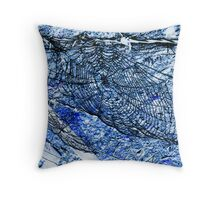 Web Blues Throw Pillow