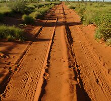 Desert Track to Lake Gregory WA by Joe Mortelliti