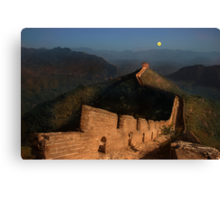 Moonrise over the Great Wall Canvas Print