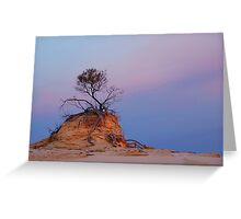 Mungo rock and tree Greeting Card