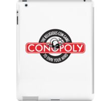 Conopoly—the religious con game! iPad Case/Skin