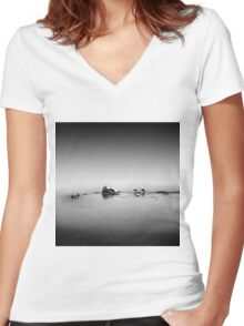 monochrome Women's Fitted V-Neck T-Shirt