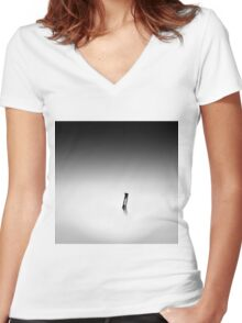 monochrome Women's Fitted V-Neck T-Shirt