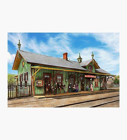 Train Station - Garrison train station 1880 Photographic Print