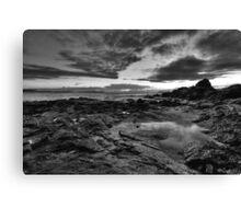 Emerald Beach (black & white) Canvas Print