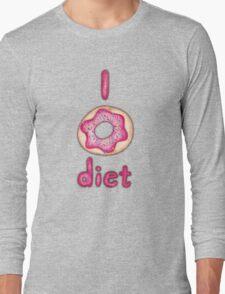 I Donut Diet - cute food illustration Long Sleeve T-Shirt