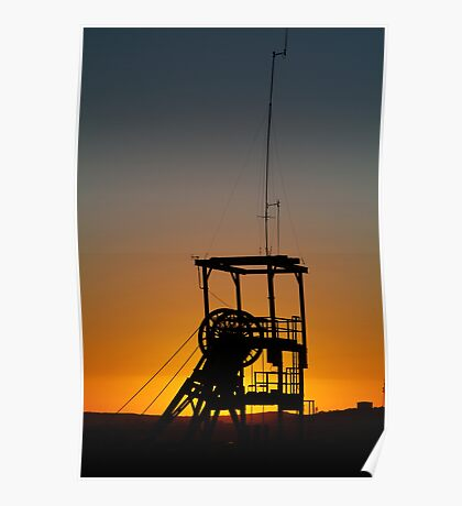 Poppet Head Sunset Broken Hill Poster
