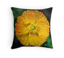 Yellow feast Throw Pillow