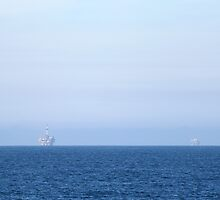 Two Oil Rigs by Henrik Lehnerer