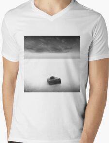 monochrome Mens V-Neck T-Shirt