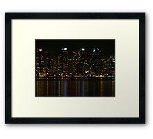 San Diego Skyline Night Framed Print