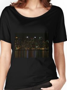 San Diego Skyline Night Women's Relaxed Fit T-Shirt