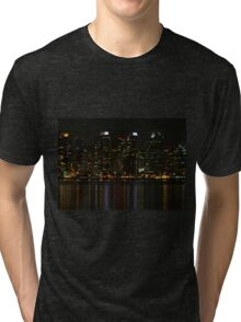 San Diego Skyline Night Tri-blend T-Shirt
