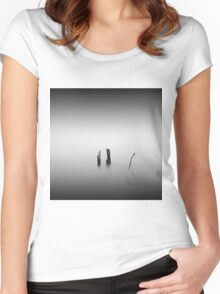 monochrome Women's Fitted Scoop T-Shirt