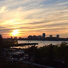 High Line at Sunset, New York City's Elevated Park and Garden by lenspiro